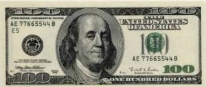 xBen Franklin $100 Bill