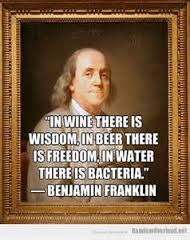 xBen Franklin Beer-Water Quote