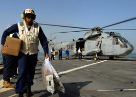 Helicopter mail delivery