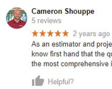 5 star review by Cameron