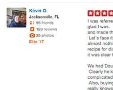 5 star review by Kevin