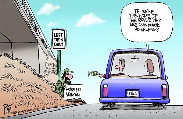 Too Many Homeless Veterans
